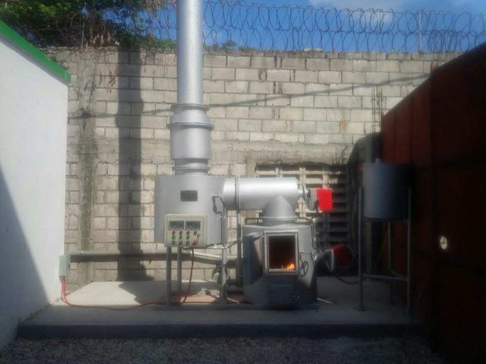 INCINERATOR SPECIFICATION Capacity	UPTO 20 kg/hr
