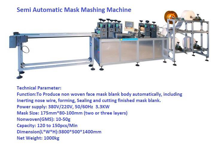 Three layer Melt Blown Facial mask machine